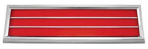 1970-72 Cutlass Door Panel Reflector Assembly, Lower Red