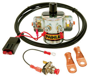 1959-1976 Bonneville Battery Disconnect Switch w/Latching Solenoid, Remote Master, by Painless Performance