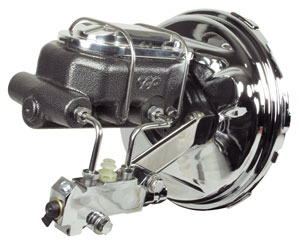 "1964-1966 El Camino Master Cylinder/Booster Assembly, Full Show 9"" w/""Hammertone"" Master Cylinder, by CPP"