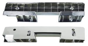1964-1964 Cutlass Armrest Bases, Chrome Front, Holiday Coupe/Convertible, by RESTOPARTS