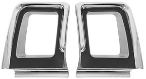 1967-1967 Cutlass Tail Light Bezels, 1967 4-4-2