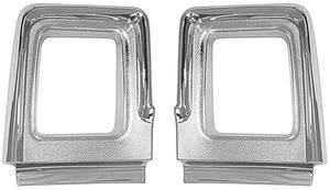 1967-1967 Cutlass Tail Light Bezels, 1967 Supreme