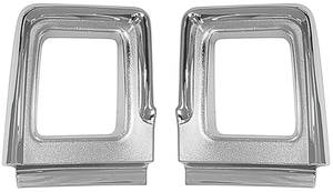 Cutlass Tail Light Bezels, 1967 Supreme