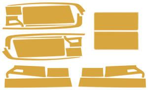 1972-1972 Cutlass Body Decal/Stripe Kit, Hurst/Olds Reflective Gold, by Phoenix Graphix
