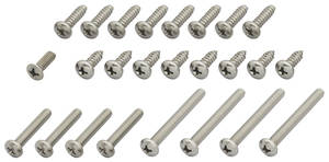 1964 Exterior Screw Set, Oldsmobile Cutlass/F-85 Coupe/Convertible (25-Piece)