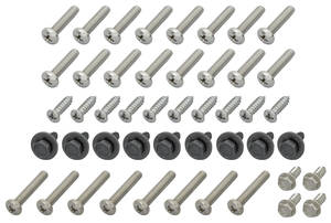 1971-72 Cutlass Exterior Screw Set, Oldsmobile 2-dr. Coupe (47-Piece)
