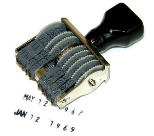 1961-73 LeMans Date Code Stamp, GM
