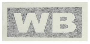 "1970-1970 Cutlass Transmission Stencil ""WB"" M-20"