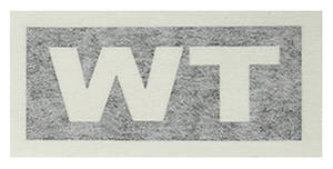 "1971-1971 Cutlass Transmission Stencil ""WT"" M-20/445"