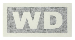 "1972-1972 Cutlass Transmission Stencil ""WD"" M-20"