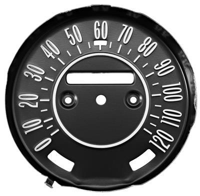 1970-72 Cutlass Speedometer Faceplate