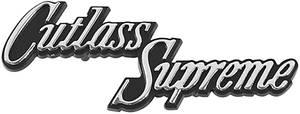 1970-1972 Cutlass Glove Box Emblem, 1970-72 Cutlass Supreme