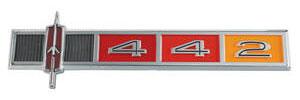 """1965-1965 Cutlass Dash Emblem, """"4-4-2"""""""