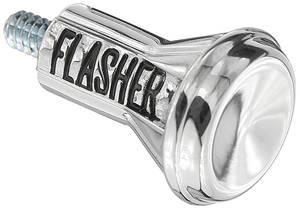 1967-1972 Cutlass Emergency Flasher Knob Long Style Chrome