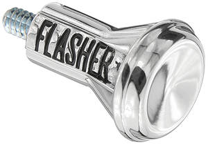 1967-72 Cutlass Emergency Flasher Knob Long Style Chrome