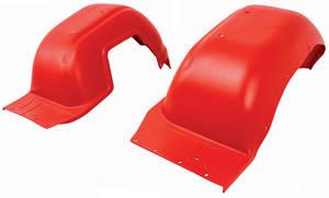 1966-67 Cutlass Fenderwells, Front Inner Red (W-30)