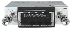 1964-65 Cutlass Stereo, Vintage Car Audio 300 Series Black