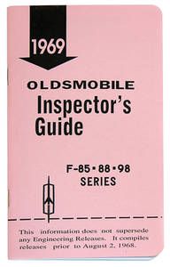 1969-1969 Cutlass Line Inspector Guide Book, Oldsmobile