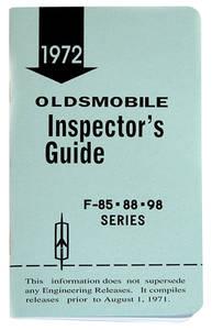 1972-1972 Cutlass Line Inspector Guide Book, Oldsmobile
