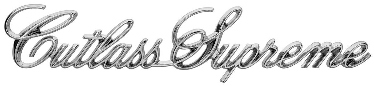 """Photo of Cutlass/442 Trunk Emblem, 1973-77 """"Cutlass Supreme"""" (Script)"""