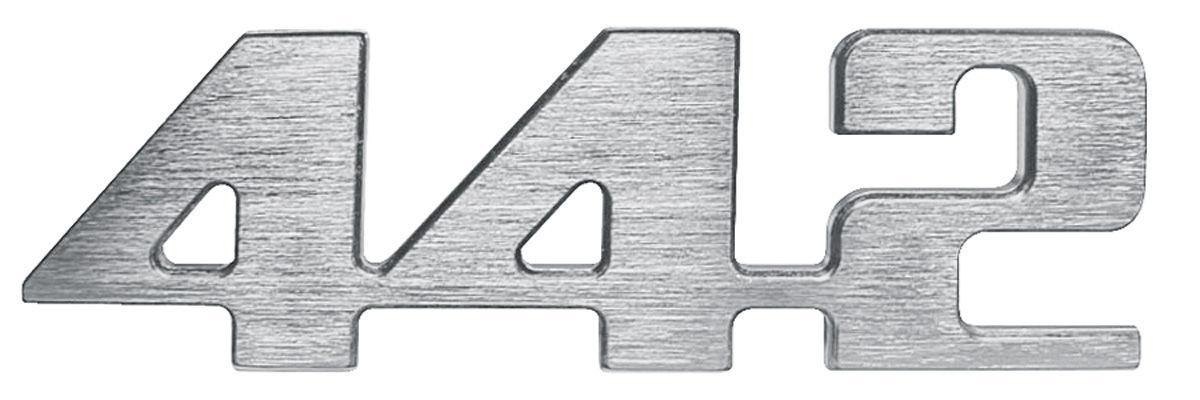 """Photo of Cutlass/442 Grille Emblem, 1974 """"4-4-2"""" (Center)"""