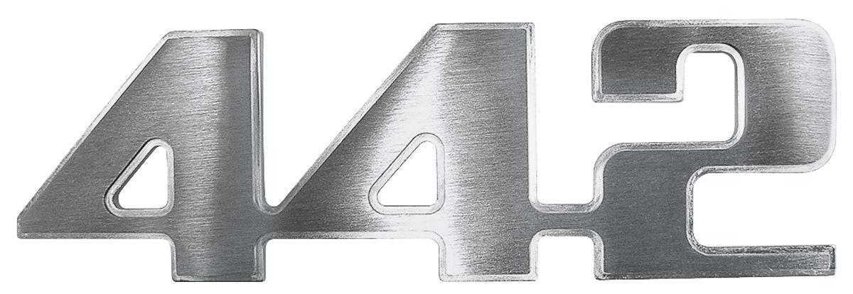 """Photo of Cutlass/442 Fender Emblem, 1974-75 """"4-4-2"""""""