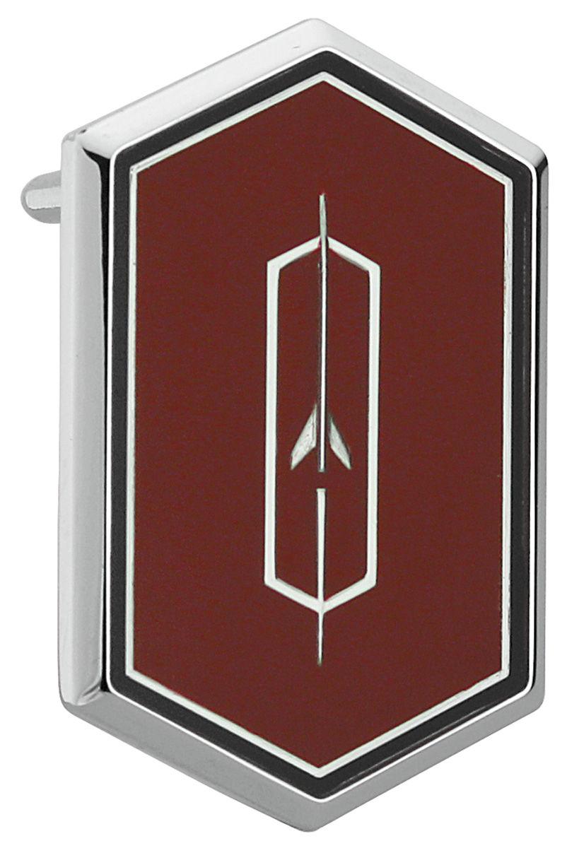 Photo of Cutlass/442 Roof Panel Emblem, Cutlass Supreme red