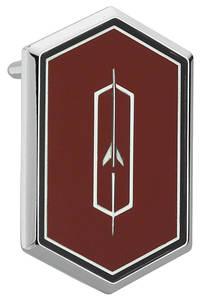 1974-75 Cutlass/442 Roof Panel Emblem, Cutlass Supreme Red