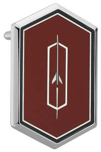1974-75 Roof Panel Emblem, Cutlass Supreme Red