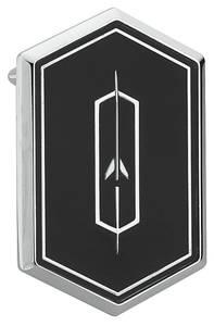 1976-77 Cutlass/442 Roof Panel Emblem, Cutlass Supreme Black