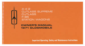 1971 Cutlass Authentic Owner's Manuals