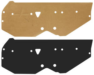 1973-1977 Monte Carlo Door Panel Water Shields (Front/Rear), by Repops