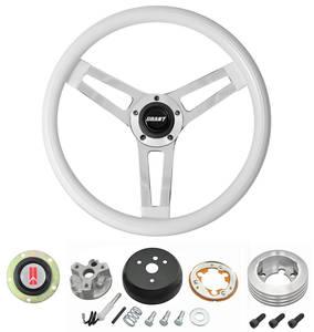 1964-1966 Cutlass Steering Wheels, Classic Series White Wheel w/o Tilt, by Grant