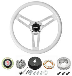 1964-66 Cutlass Steering Wheels, Classic Series White Wheel w/o Tilt