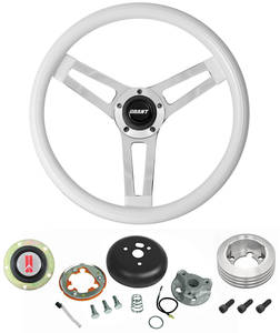 1969-77 Cutlass Steering Wheels, Classic Series White Wheel Standard Column