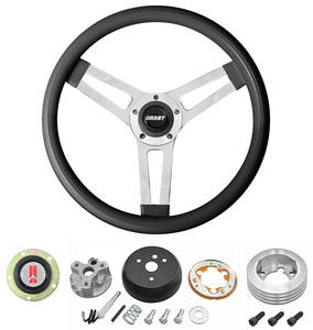 1964-66 Cutlass Steering Wheels, Classic Series Black Wheel w/o Tilt