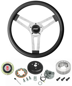 1969-77 Cutlass Steering Wheels, Classic Series Black Wheel Standard Column, by Grant