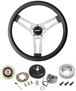 1969-77 Cutlass Steering Wheels, Classic Series Black Wheel Standard Column