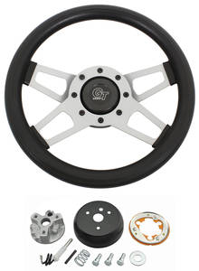 1965-1966 Bonneville Steering Wheel, Challenger Series Satin Wheel w/Tilt, by Grant