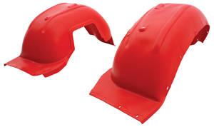 1968-1969 Cutlass Fenderwells, Front Inner Red (W-30)