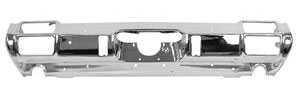 1971-1972 Cutlass Bumper, Chrome Rear 4-4-2, w/Exhaust Cutouts