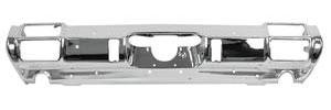 1971-72 Cutlass Bumper, Chrome Rear 4-4-2, w/Exhaust Cutouts