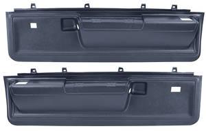 1973-1977 Chevelle Door Panels, 1973-77 Reproduction Molded Lower Malibu Manual Locks/Power Windows, by Dashtop