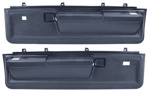 Cutlass Door Panels, 1973-77 Reproduction Molded Lower Manual Door Locks & Power Windows