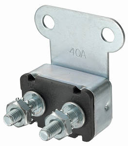 1961-71 GTO Power Accessory Circuit Breaker 40-Amp, Bracket Mount