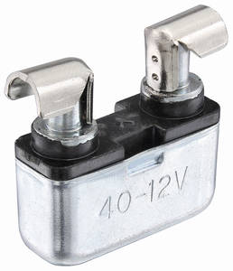 1972-73 LeMans Power Accessory Circuit Breaker 40-Amp, Fuse Block Mount