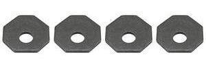 1964-67 Chevelle Bumper Bracket Hardware Alignment Washers (4-Pcs.)
