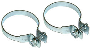 1962-1977 Grand Prix Exhaust Tailpipe Clamp Zinc Coated 2 Dia.