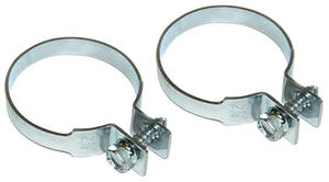 "1959-1976 Bonneville Exhaust Tailpipe Clamp Zinc Coated 2-1/4"" Dia."