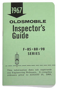 1967-1967 Cutlass Line Inspector Guide Book, Oldsmobile